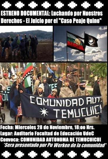 Estreno Documental Comunidad Autonom de Temucuicui